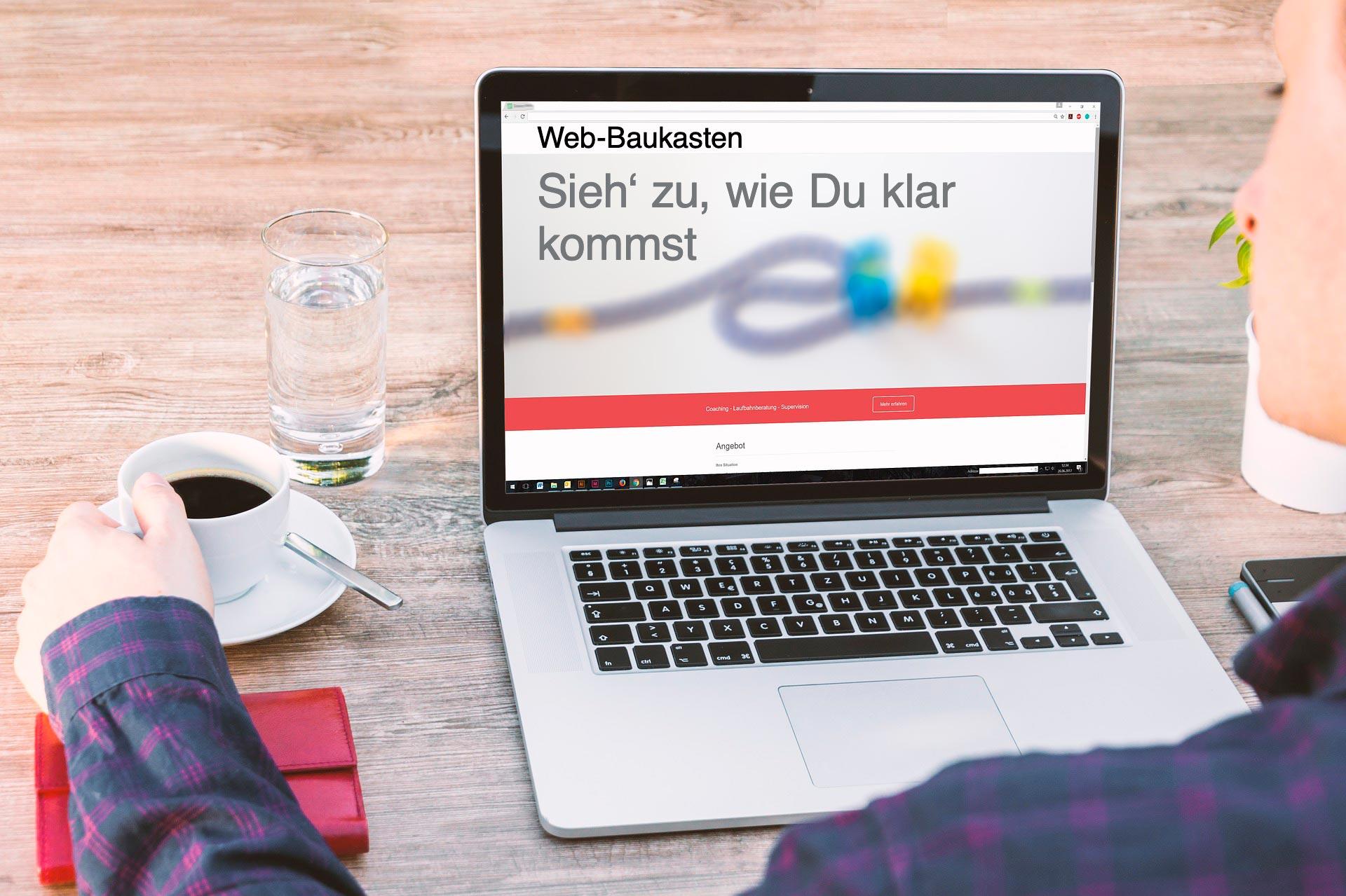 Homepage-Baukasten lässt Dich alleine mit Deinen herausforderungen