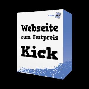 Webseite zum Festpreis Paket Kick