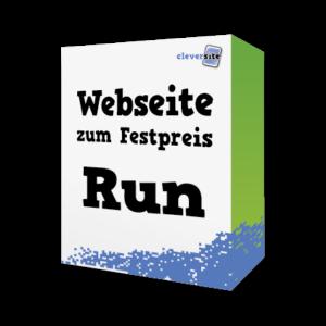 Webseite zum Festpreis Paket Run